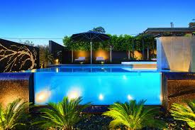Pool Landscape Lighting Ideas by Contemporary Home In Melbourne With Resort Style Modern