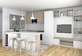 sejour et cuisine ouverte cuisine ouverte sur séjour lyon valérie pinon décoration