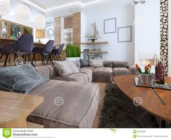 Loft Living Room by Modern Living Room In A Loft Style Stock Photo Image 69043666