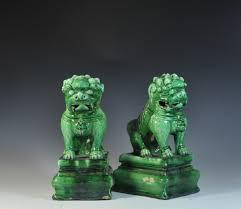 green foo dogs lot 35 antique ceramic foo dogs akiba antiques
