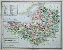 Old Map Of Suffolk County Antique Map Of Somerset By Sidney Hall 1833 Hand Coloured