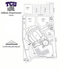 tcu parking map gofrogs com 2005 football parkings lots and parking lot