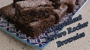 four ingredient ferrero rocher brownies cat cooks 11 youtube