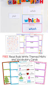 free printable read build write mats vocabulary cards fun with