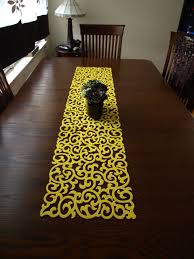 yellow modern table runner the holland how to make a mirror of