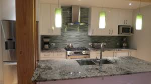 Beach Break Linear Glass Tile Backsplash Contemporary Kitchen - Linear tile backsplash