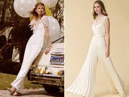 wedding jumpsuit say no to the dress 16 stylish modern bridal jumpsuits praise