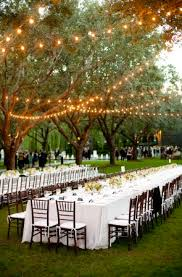 outdoor tree lights for summer it is summer time and we love this outdoor wedding design the