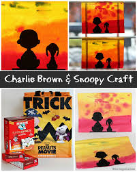 charlie brown and snoopy watercolor craft for kids where