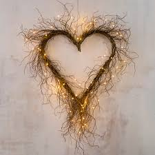 willow heart wreath curly willow abundance and heart shapes