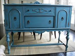 Vintage Buffets Sideboards Antique Sideboard Server Buffet Teal Blue By Tinysvintage On Etsy