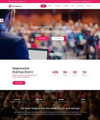 impression free bootstrap html event and conference template 2