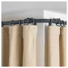 Lowes Double Curtain Rod Curtains Ikea Corner Curtain Rod Window Treatments For Corner
