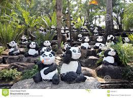 panda statue stock image image of garden stance 35925011