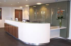 Illuminated Reception Desk Woodcraft Commercial Sector