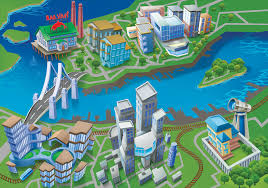 city map the sims san myshuno official site