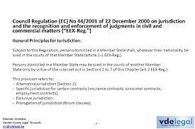 Council Regulation Ec No 44 2001 Brussels Marinus Vromans Vanden Eynde Brussels The Place Of Delivery