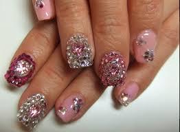 227 best glitter studs u0026 crystal nails images on pinterest