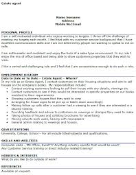 estate agent cv example u2013 cover letters and cv examples