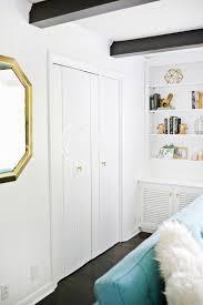 Closet Panel Doors Add Geometric Panels To Your Plain Closet Doors A Beautiful Mess