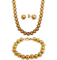 gold plated bead necklace images 18k gold plated designer inspired 8mm large shiny jpg