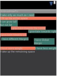 android textview set layout weight android linear layout gurushya