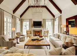 Family Room Curtains Ideas Living Room Traditional With Large - Family room curtains ideas