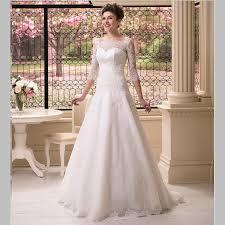 lace 3 4 sleeve wedding dress plain design lace 3 4 sleeve wedding dress popular modest wedding