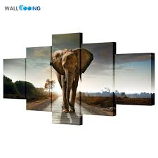 Home Decor Cheap Prices Elephant Picture Picture More Detailed Picture About 5pcs Canvas