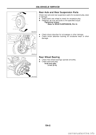 nissan sentra rear wheel bearing replacement nissan patrol 1998 y61 5 g rear suspension workshop manual