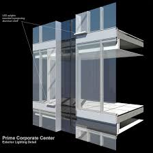 Curtain Wall House Plan Office Tower Integrates 1500 Linear Feet Of Led U0027s With Unitized