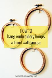 hanging hoops without wall damage themerriweather council blog