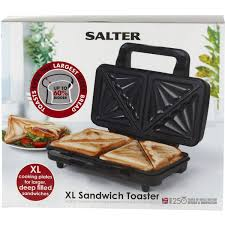 Toaster Sandwich Maker Salter Extra Large Sandwich Maker Black Homeware Thehut Com