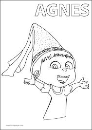 agnes despicable me 2 happy coloring page wecoloringpage