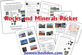 free rocks and minerals packet 25 pages homeschool den