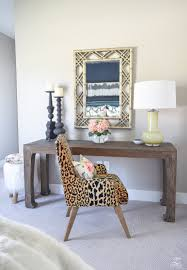 a cozy chic guest bedroom retreat update part 2 zdesign at home golden bamboo lattice mirror jamil leopard fabric leaopard