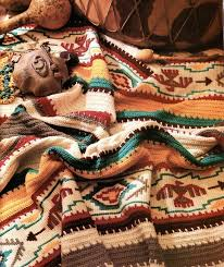 indian blanket crochet pattern afghan southwest colorful 50 by 70