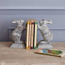 bunny bookends rabbit bookends home decoration graham and green