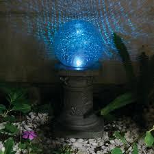 Garden Gazing Globes Smart Solar Crackled Glass Solar Powered Chameleon Gazing Ball