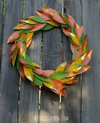 Home Made Fall Decorations Paper Glitter Fall Wreath Twelveoeight