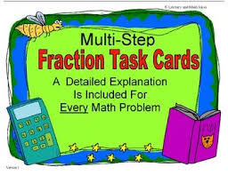 multi step fraction word problems by literacy and math ideas tpt