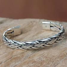 braided weave bracelet images Braided sterling silver cuff bracelet from bali singaraja weave jpg