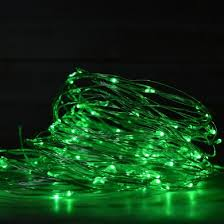 100 green led wire waterproof string lights 33ft ac