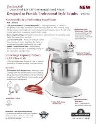 kitchenaid mixer comparison table kitchenaid stand mixer which size to get cookware mixers