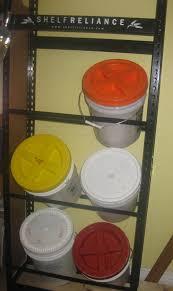 Shelf Reliance Shelves by Thrive Life Consultant Shelf Reliance Product Review Bucket Shelf