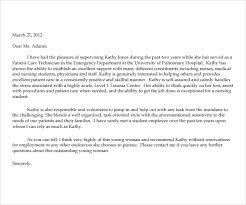sample professional letter formatsreference letter icu nurse