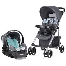 poussette siege auto bebe poussette standard vive d evenflo avec siège d auto pour bébé