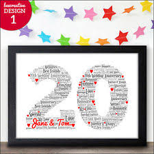 20th wedding anniversary gifts 20th wedding anniversary ebay