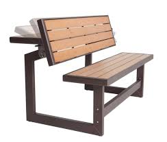 modern convertible picnic table and bench seat with wooden top and