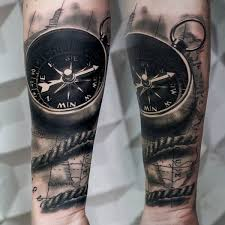 3d Compass Tattoos Compass Designs With Meaning Nautical Compass Ideas